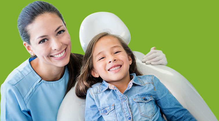Dentist and child patient